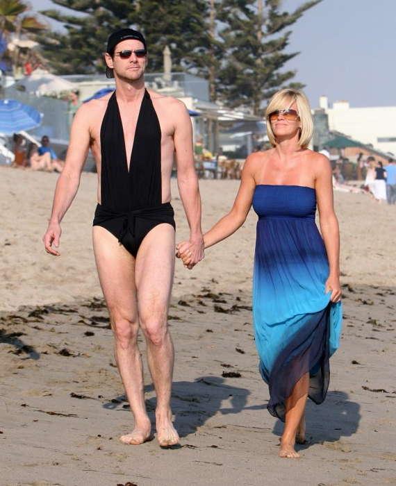 Jim carey wearing bikini