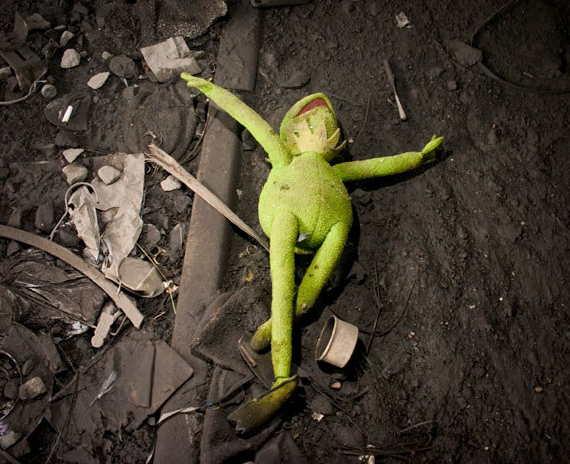 Loading Kermit Swine Flu Victim