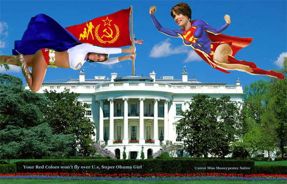 Loading Super Girl and Super Obama Girl