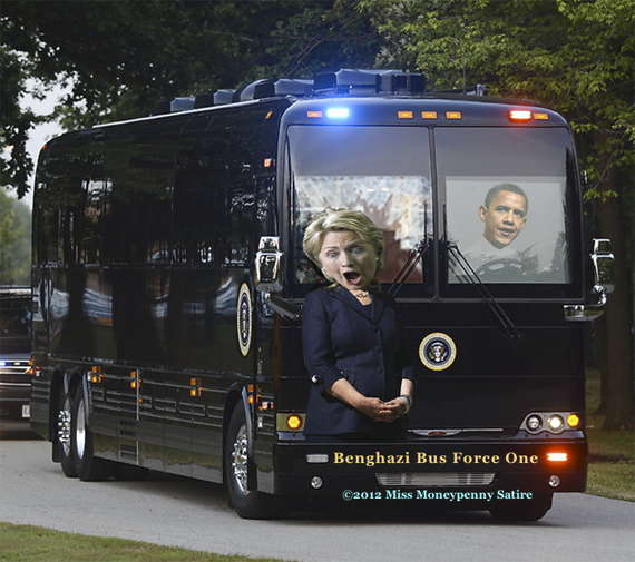 Loading Barack Obama's Benghazi Bus Force One